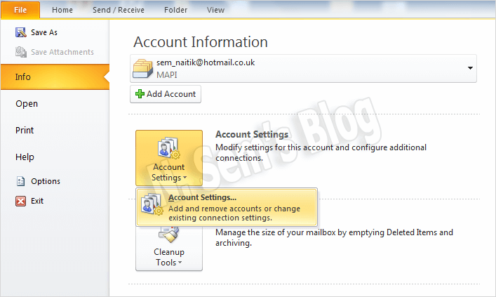 PST compact in Outlook 2010