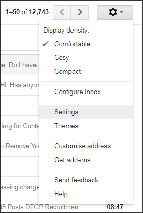 create IMAP account