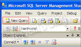 how to create new query in SQL Server?