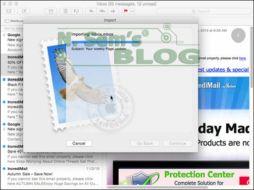 import MBOX to Apple Mail
