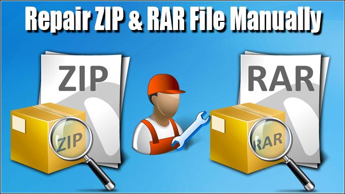 repair ZIP file and repair RAR file