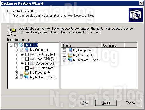 how to take backup