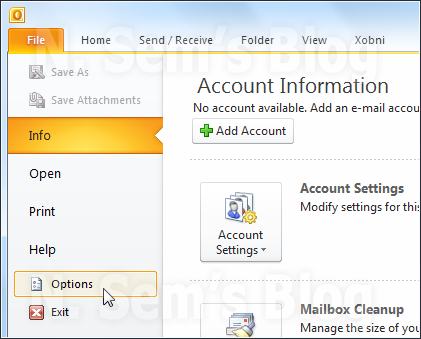auto-archive outlook