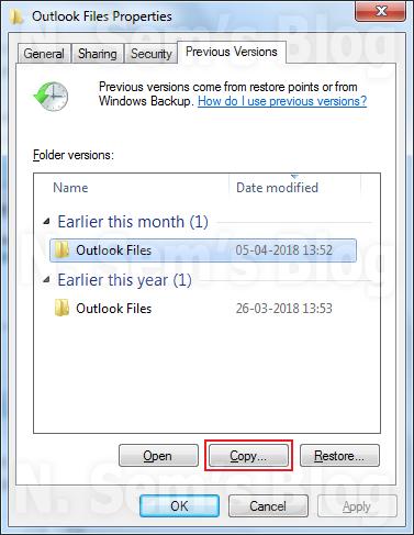 Windows' previous versions
