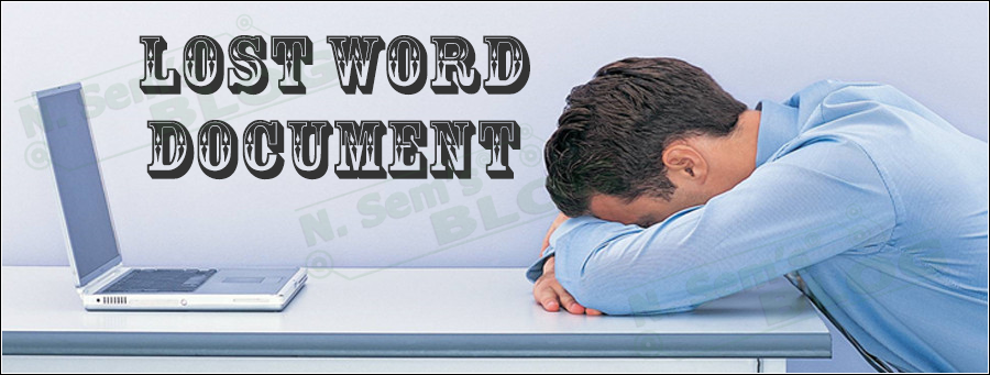 lost Word document