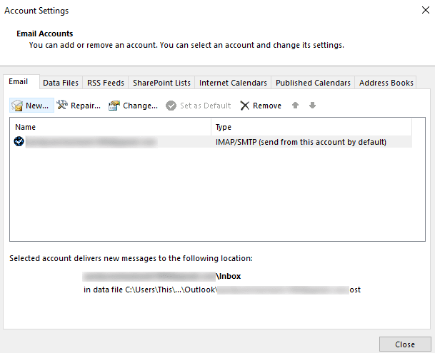 open account setting