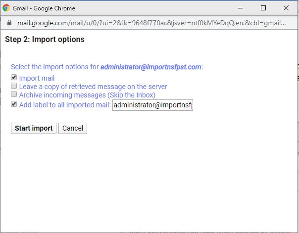 start import
